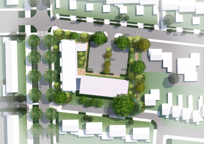 Schets voor bouwplan aa de Wederikdreef in Nuenen