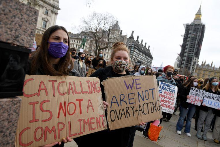 Een demonstratie, afgelopen zaterdag in Londen. Beeld REUTERS