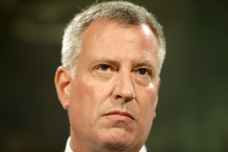 De New Yorkse burgemeester Bill de Blasio. Beeld ap