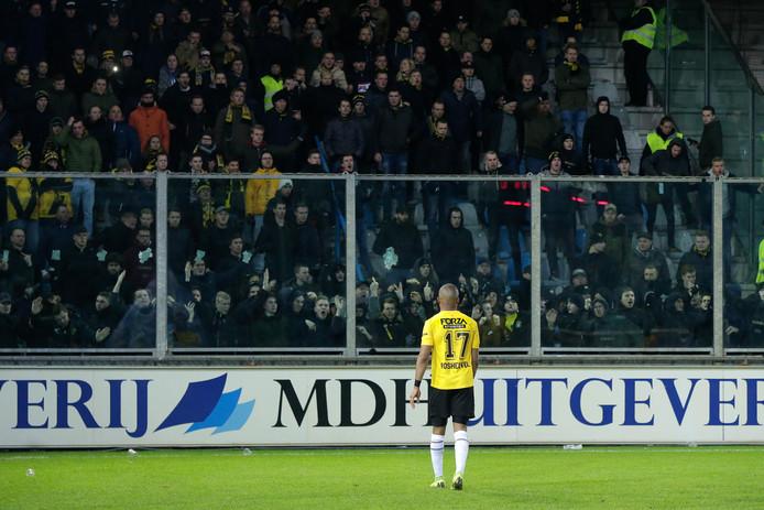 Woede bij de NAC-supporters na het duel tegen De Graafschap.
