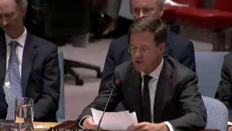 Rutte bij de VN. Beeld Still