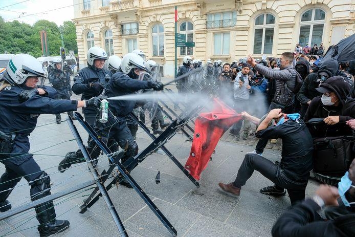 betoging tegen racisme en politiegeweld