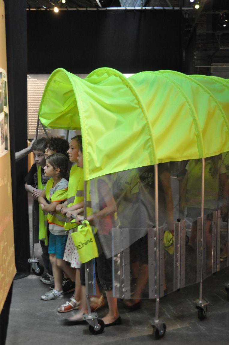 De gerealiseerde tentenparaplu. Beeld RV MyMachine