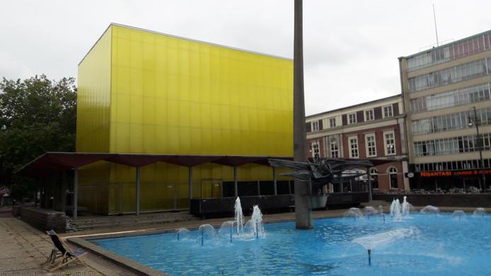 De kubus op het Gele Rijdersplein. Foto: DG