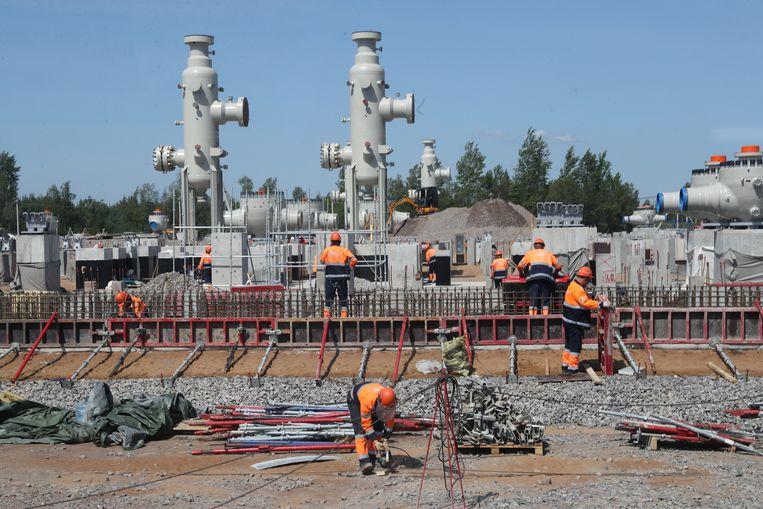 Nord Stream 2 gaat gas vervoeren van het Russische poolgebied naar Duitsland. Beeld Alexander Demjantsjoek/Tass