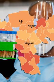 Coronakaart | Meer besmettingen, Arnhem valt op: check hier hoe het zit in jouw gemeente