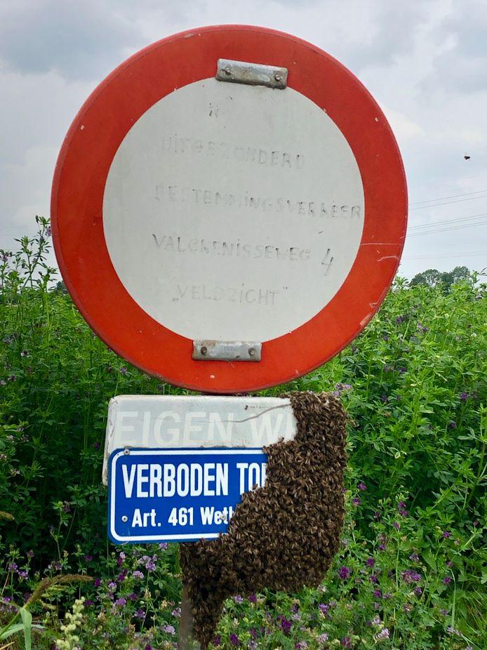 Het bord aan het begin van een zijweg van de Valckenisseweg in Rilland.