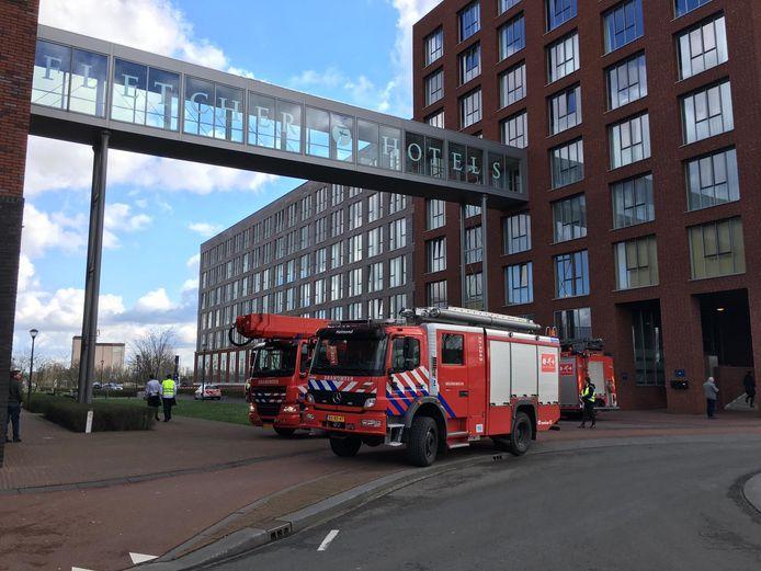 Brand bij hotel Fletcher in Helmond