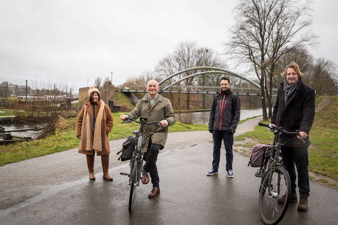 De bevoegde mobiliteitsschepenen van de vier gemeenten van Stadsregio Turnhout