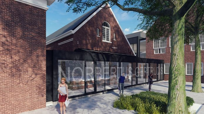 Impressie nieuwbouw Norbertus Gertrudis Mavo in Roosendaal