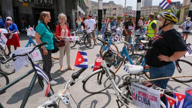 Honderdtal manifestanten vraagt opheffing VS-blokkade Cuba aan vooravond van komst Biden