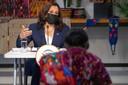 Vicepresident Kamala Harris tijdens het werkbezoek in Guatemala