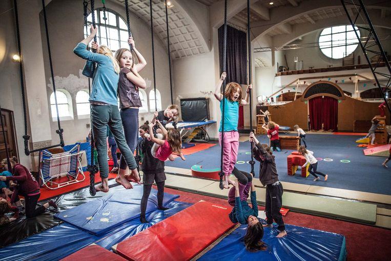 De kerk van Malem werd al omgetoverd tot een circusschool.