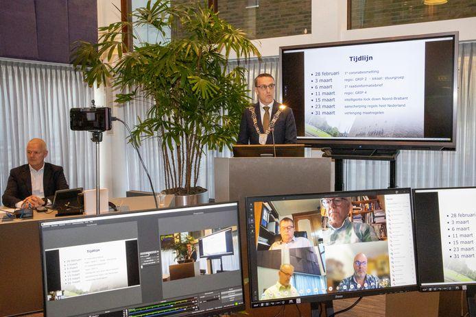 De eerste online raadsvergadering In de gemeente Laarbeek.