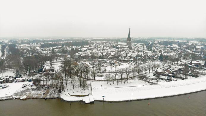 Sneeuw in Doesburg.