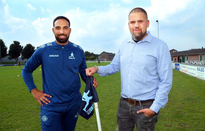 Hoofdtrainer Oussama Bekkaoui (25) en voorzitter Terry Konings (35) staan symbool voor de jonge organisatie die leiding aan FC Skillz geeft.