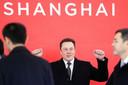 Eem blije Tesla-CEO Elon Musk in Peking, eerder deze maand