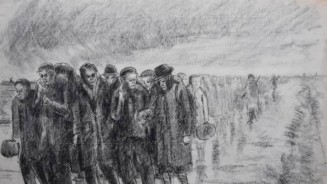 Indrukwekkend: deze tekeningen van Charles Kemper tonen de oorlog in Rotterdam in al zijn somberheid
