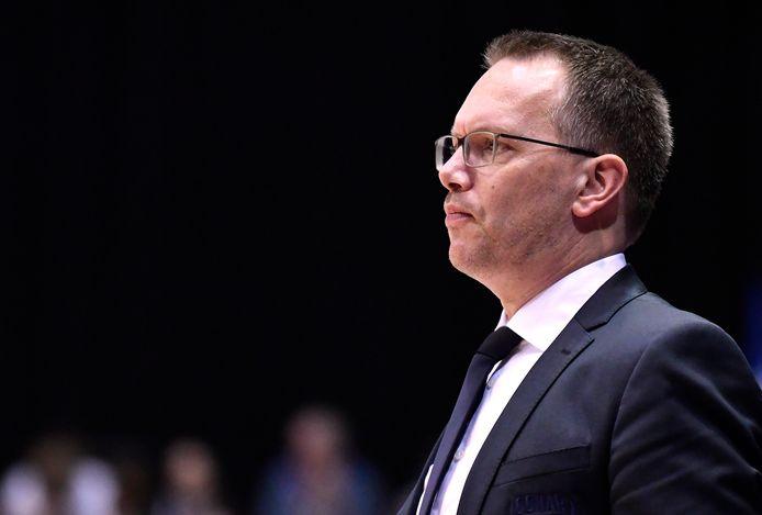 Erik Braal in zijn tijd als trainer van Donar Groningen.