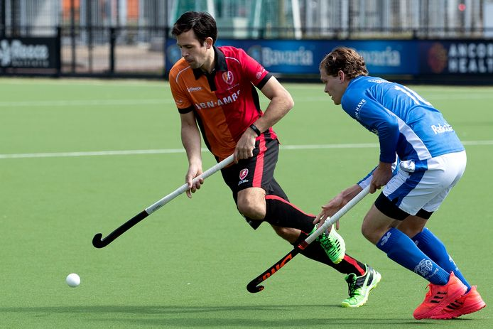 Niek van der Schoot afgelopen maand in actie voor Oranje-Rood tegen Kampong.