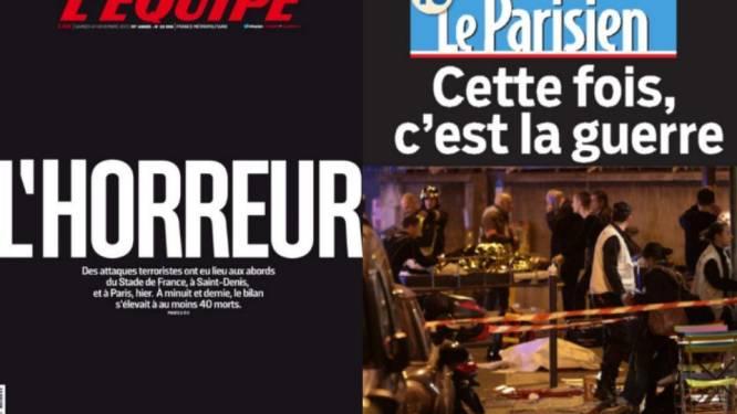 """Gitzwarte voorpagina's Franse kranten: """"Deze keer is het oorlog"""""""