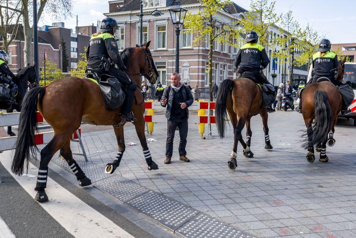 Politie te paard in Breda.