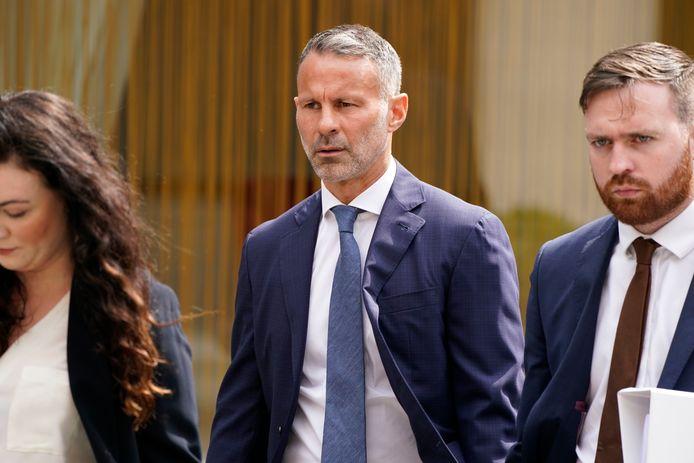 Ryan Giggs komt aan bij de rechtbank in Manchester.
