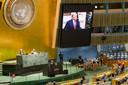 Videotoespraak van Trump tijdens de Algemene Vergadering van de Verenigde Naties in september 2020