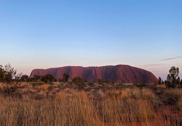 Mount Uluru in Australië.