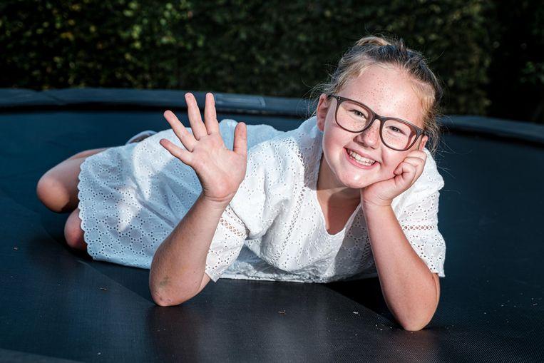 Linde Degeest (11) speelt een hoofdrol in de musical 'Bonnie & Clyde'.