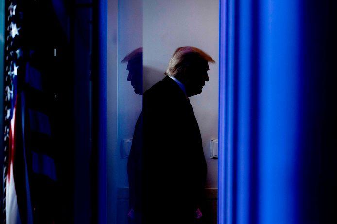 Le président américain Donald Trump après une conférence de presse à la Maison Blanche en avril 2020.