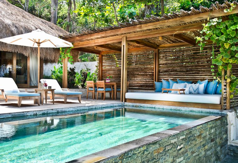 Het resort waar de Beckhams verbleven.