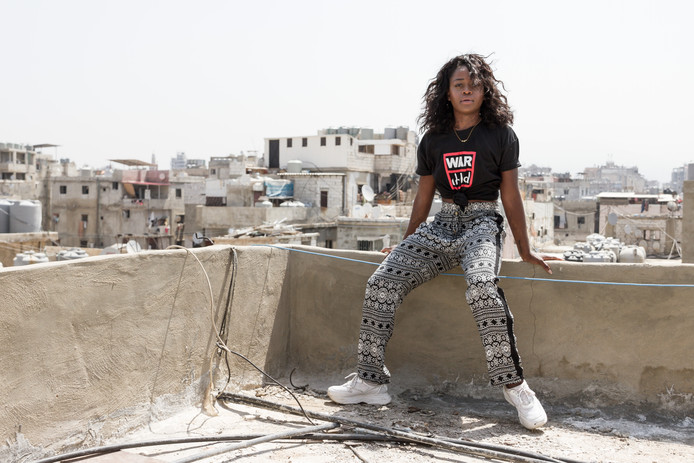 Michaela DePrince in Libanon, als ambassadeur van War Child.