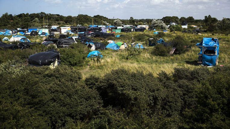 De jungle van Calais. Beeld EPA
