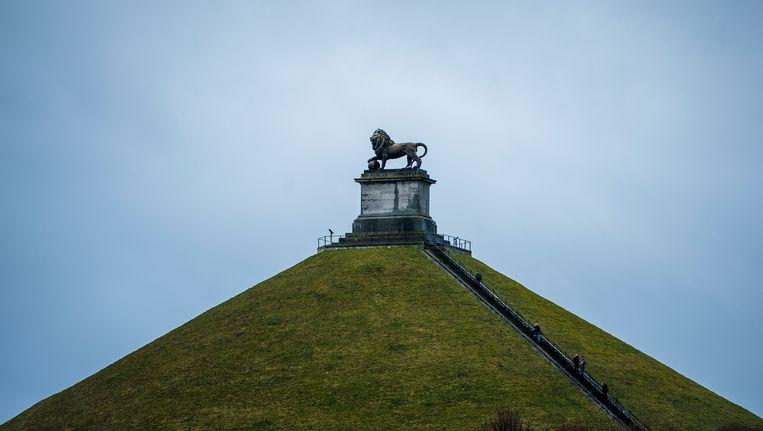 De Heuvel met de Leeuw van Waterloo. Beeld BELGA