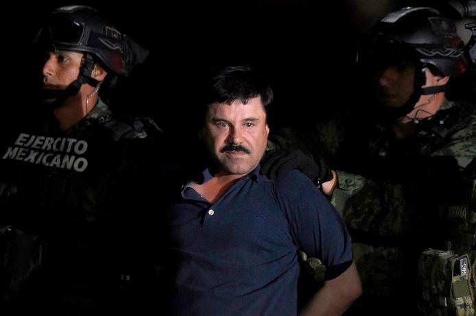 Joaquin 'El Chapo' Guzman bij zijn arrestatie in 2016.
