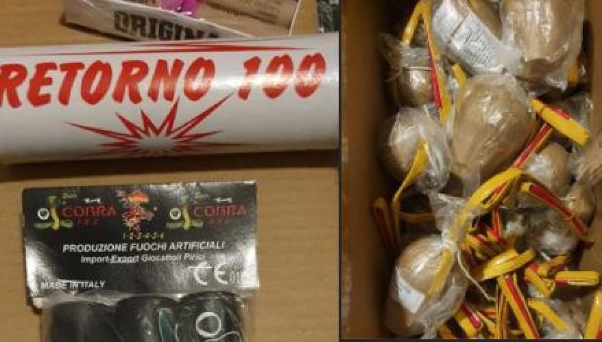 Voorbeeld van illegaal vuurwerk.