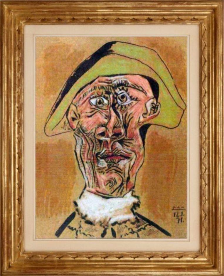 Het werk 'Tête d'Arlequin' van Pablo Picasso is in 2012 gestolen uit de Kunsthal in Rotterdam.   Beeld RV