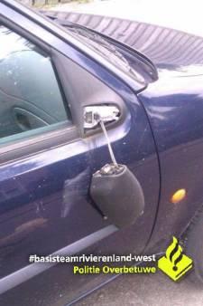 Vandalen vernielen autospiegels in Herveld-Andelst
