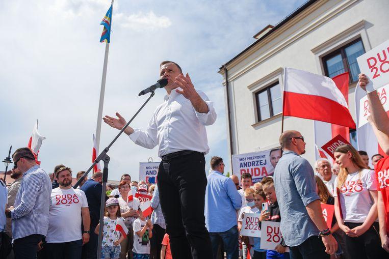 Volgens Andrzej Duda, de huidige president van Polen, is het coronavirus verslagen in Polen. Beeld Getty Images
