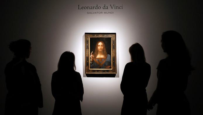 """Le tableau """"Salvator Mundi"""" de Leonard de Vinci."""