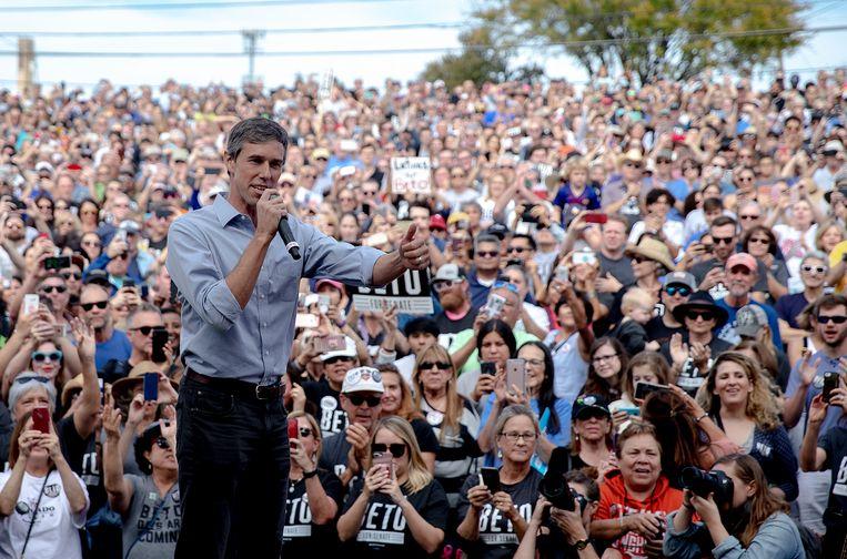 Beto O'Rourke, de nieuwe Democratische hoop uit Texas. Beeld AP