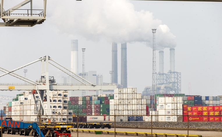 Kolencentrale in de Rotterdamse haven. Beeld anp