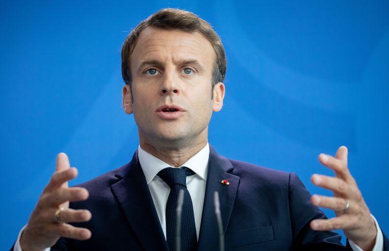 Emmanuel Macron Beeld Kay Nietfeld/dpa