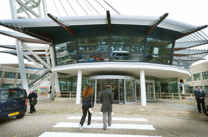 De hoofdingang van het Canisius-Wilhelmina Ziekenhuis in Nijmegen.