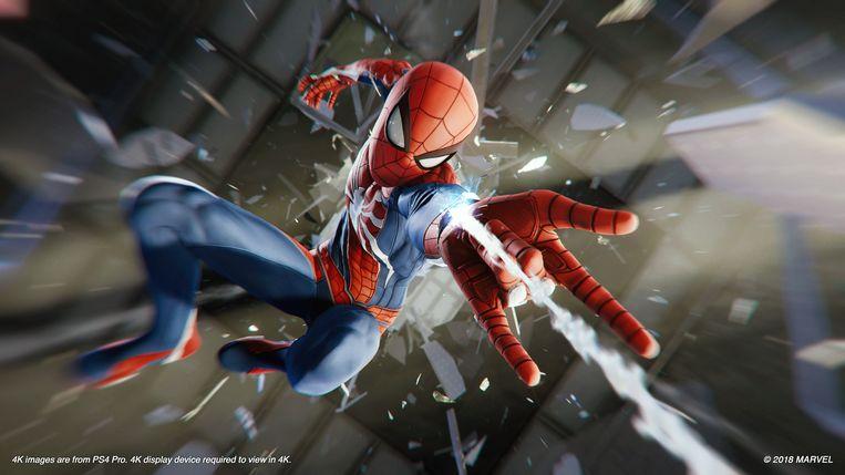 Vooral de animaties maken van 'Marvel's Spider-Man' een technisch hoogstandje. Beeld Sony PlayStation