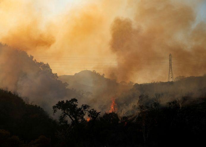 Natuurbrand in Californië.
