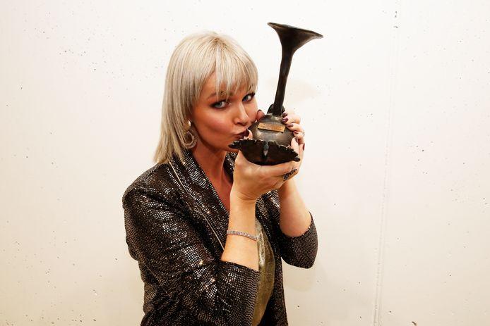 Zangeres Eveline Cannoot won in 2019 nog een Loftrompet.