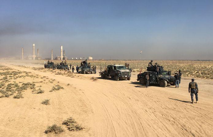 Iraakse troepen bij belangrijke olievelden in Kirkuk in 2017, archiebeeld ter illustratie.