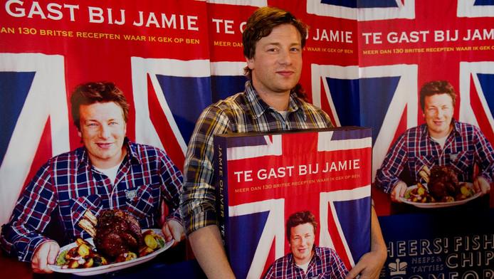 Jamie Oliver presenteerde diverse boeken in het Amsterdamse Fifteen